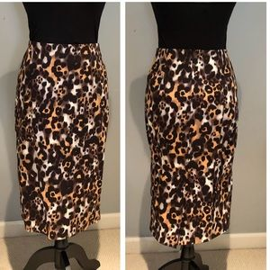 NWOT St. John High Waisted Animal Print Skirt